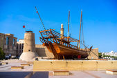 Al Fahidi Fort (1787), home to the Dubai Museum and city's oldes — Stock Photo