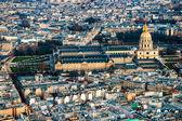 Париж, Дом Инвалидов из Эйфелевой башни. — Стоковое фото