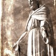 Vintage Photograph of Statue of Jesus Christ — Stock Photo