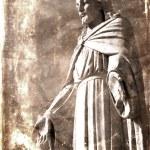 Vintage Photograph of Statue of Jesus Christ — Stock Photo