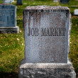 Gravestone for Job Market — Stock Photo