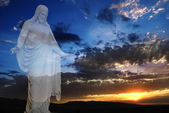 Jesus and Light at Sunset — Foto Stock