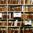 Files on Shelf - Stock Photo