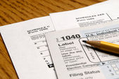 Tax Forms — Stockfoto