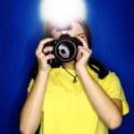 Girl Photographer — Stock Photo #13835392