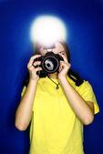 Girl Photographer — Foto de Stock