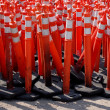 Road Warning Cones — Stock Photo