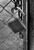 Lock and Chain Security — Stock Photo