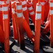 Stock Photo: Road Warning Cones