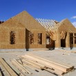 Stock Photo: Construction of New Home