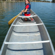 Canoeing at the Lake — Stock Photo