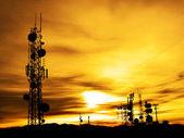 Torres de rádio — Foto Stock