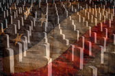 Arlington Cemetery with Faded Flag — Stock Photo