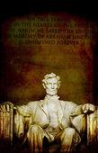リンカーンの彫像のリンカーン記念館のクローズ アップ — ストック写真