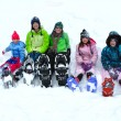 Snowshoeing in Winter - Stock Photo
