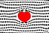 Coração de bolha e bolinhas — Fotografia Stock