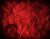 Valentines Rose on Textured Paper — Stock Photo