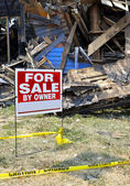 Fire Damaged Home For Sale — Stock Photo