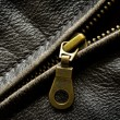 Royalty-Free Stock Photo: Leather Jacket Zipper