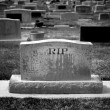 Stock Photo: Gravestone RIP