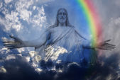 Jesus and Light — Stock Photo
