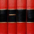 Books on Bankruptcy — Stock Photo