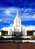 Mormon Temple Idaho Falls — Stock Photo