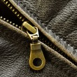 Leather Jacket Zipper — Stock Photo #28500295