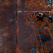 Stock Photo: Rusted Steel Welded Together