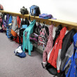 Stock Photo: Coat Rack in School