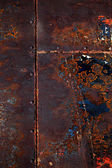 Rusted Steel Welded Together — Stock Photo