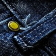 Stock Photo: Denim Pants Button