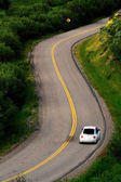 Driving on curved road — Stock Photo
