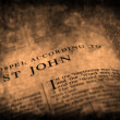Bibel neues Testament St.John — Stockfoto