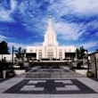 Stock Photo: Mormon Temple Idaho Falls