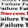 Stock Photo: Success amongst failure