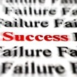 Success amongst failure — Stock Photo
