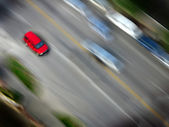Speedy Red Car — Stock Photo