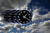 Time Flies or Speedy Time — Stock Photo