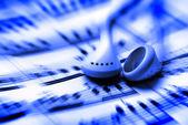Słuchanie muzyki — Zdjęcie stockowe