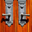 Old Wooden Door Handles — Stock Photo