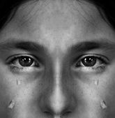 Girl Crying with Tears — Stock Photo