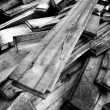 Pile of Old Wooden Boards — Stock Photo