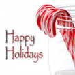 Candy Canes in Jar — Stock Photo