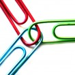 Teamwork Paperclips — Stock Photo