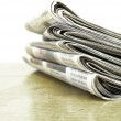 Newspapers Stacked up — Stock Photo #37555643