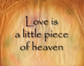 Textured Paper of Love and Heaven — Stock Photo