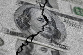 American Dollars Torn or Ripped — Stock Photo