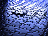 Puzzle Pieces Completed — Stock Photo