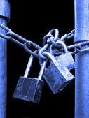 Locks and Chain Security — Stock Photo